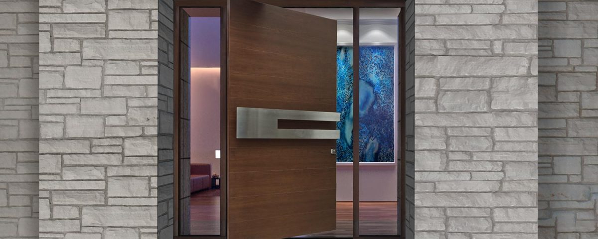 commercial doors at a business